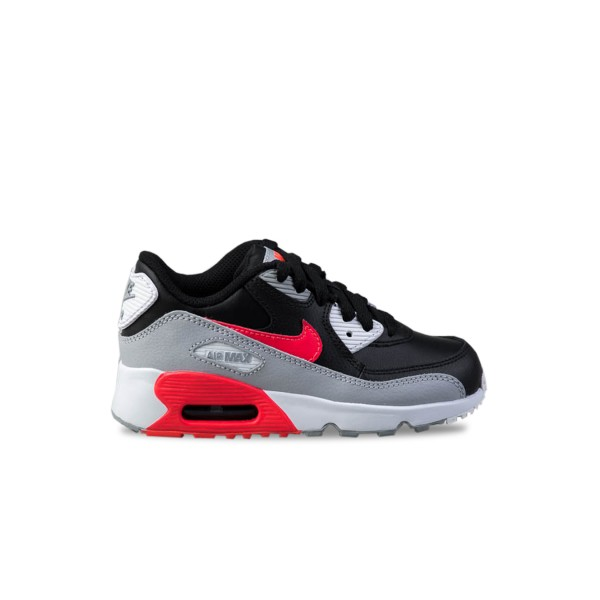 Nike Air Max 90 Leather Grey - Black - Red