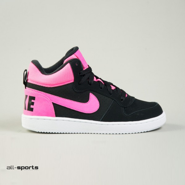 Nike Court Borough Mid Black - Pink
