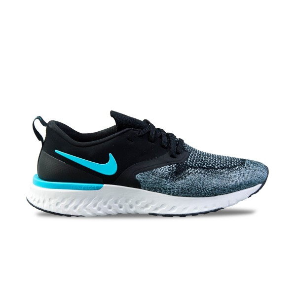 Nike Odyssey React Flyknit 2 Grey - Black - Blue