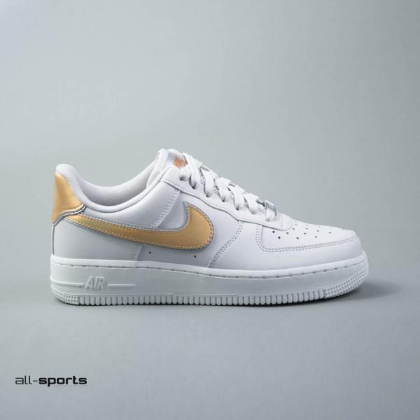 Nike Air Force 1 07  Leather Grey- MTLC