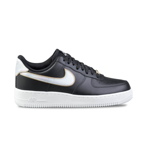 Nike Air Force 1 07  Leather Black - MTLC