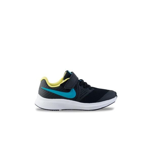 Nike Star Runner 2 Ps Black - Light Blue