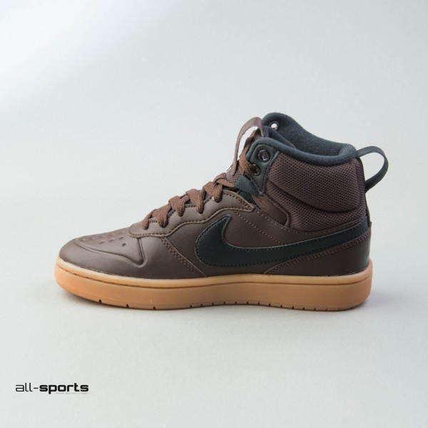 Nike Court Borough Mid 2 Gs Leather Brown