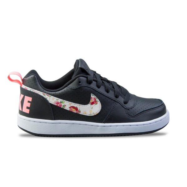 Nike Court Borough Low GS Black - Floral