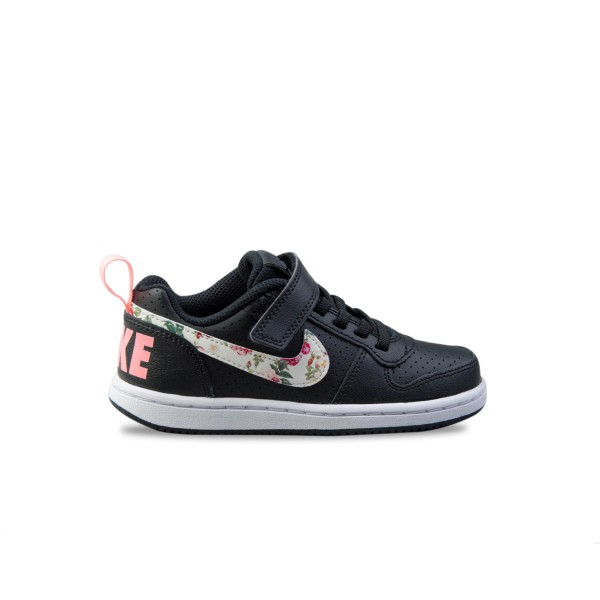 Nike Court Borough Low PS Black - Floral