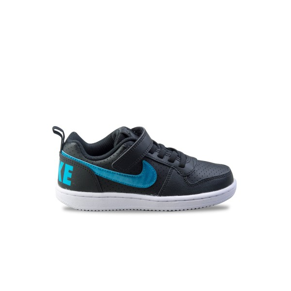 Nike Court Borough Low PS Black - Blue