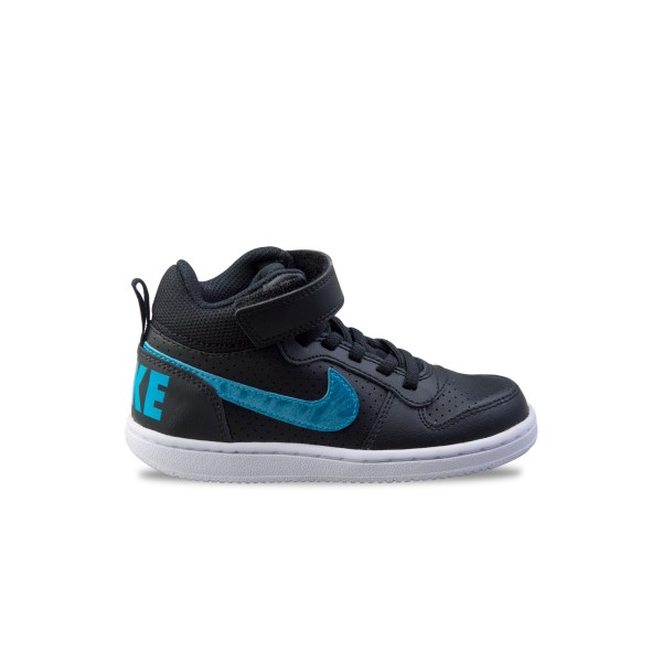 Nike Court Borough Mid Black -Blue