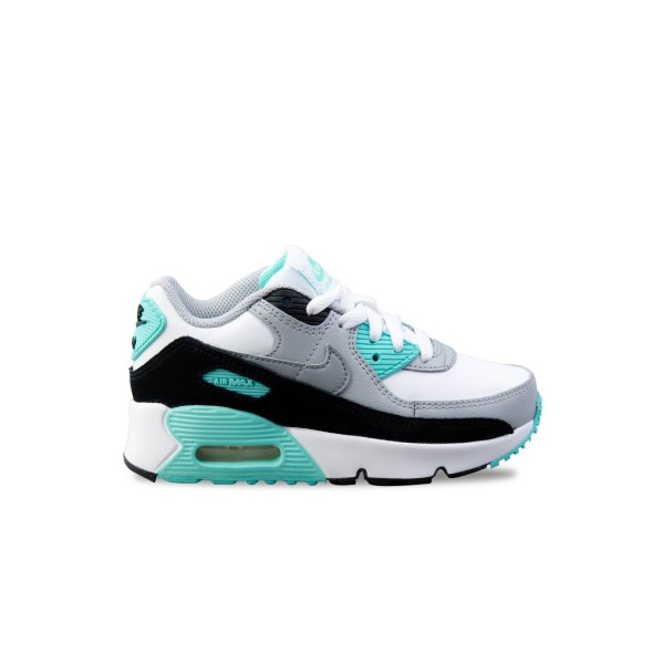Nike Air Max 90 Ltr PS Leather White - Grey - Little Blue