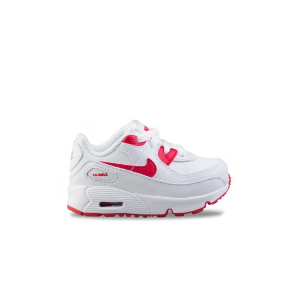 Nike Air Max 90 Td Leather White - Red
