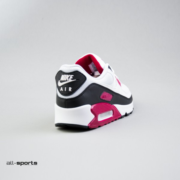 Nike Air Max 90 White - Maroon