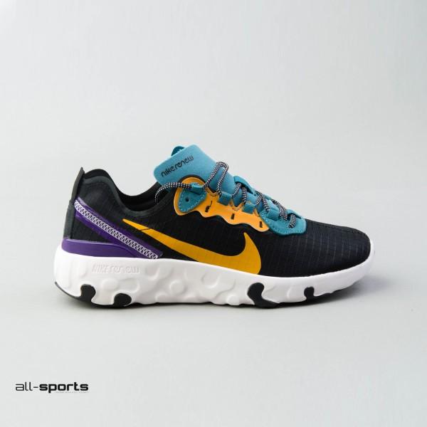 Nike Renew Element 55 Prm Gs Black - Yellow - Purple