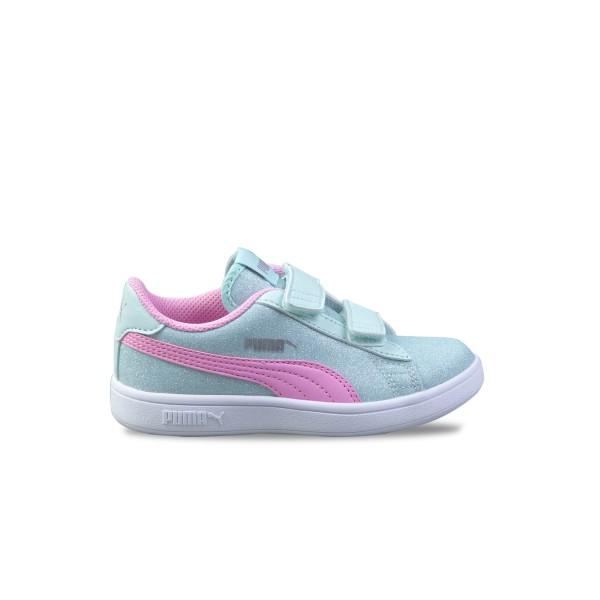 Puma Smash V2 Glitz Aqua - Pink