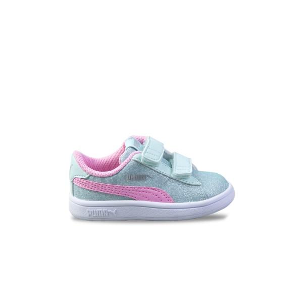 Puma Smash V2 Glitz Glam Aqua - Pink
