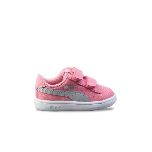 Puma Smash V2 Glitz Glam I Pink - Grey