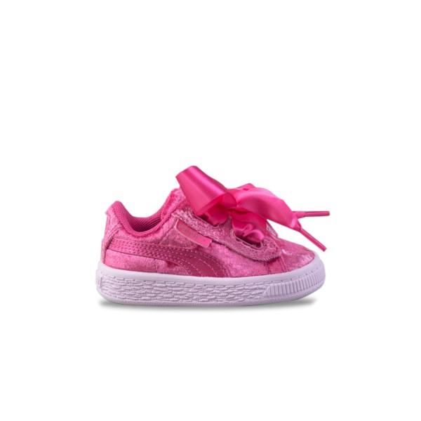 Puma Basket Heart Velour Pink