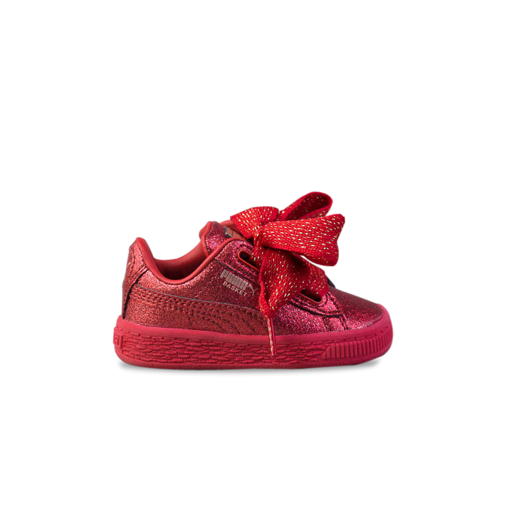 sports shoes 2ddde df944 Baby's Shoes Puma Basket Heart Holiday Glamour Red| All ...