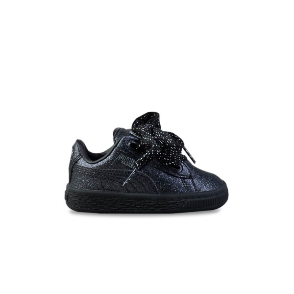 Puma Basket Heart Holiday Glamour I Black