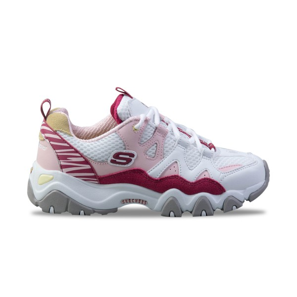 Skechers D'lites 2 - One Piece White - Pink