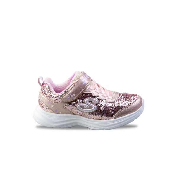 Skechers S Lights Glimmer Kicks Glitter N' Glow Pink