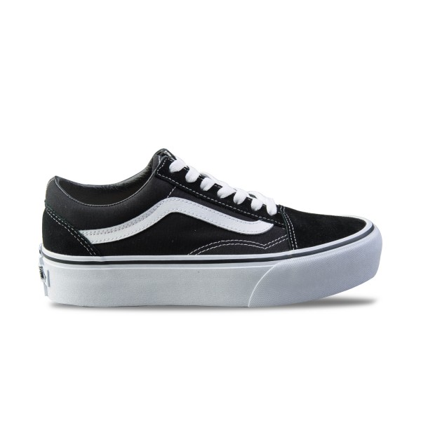 Vans Old Skool Platform Black - White