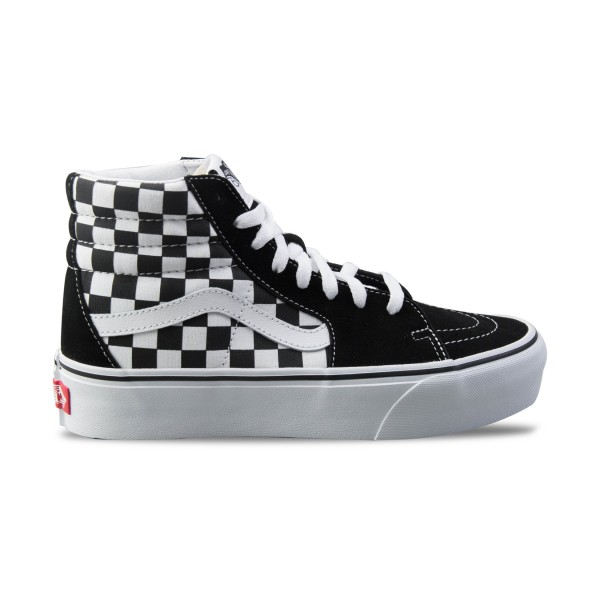 Vans Sk8 Hi Platform 2 Checkerboard Black - True White