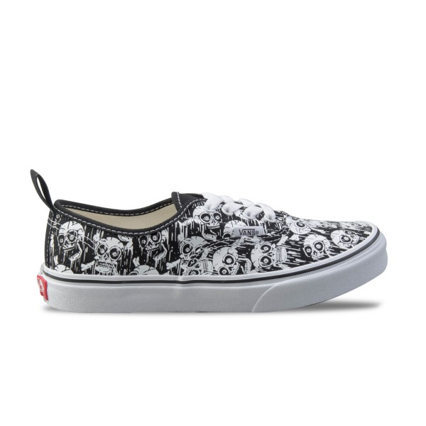 Vans Authentic Elastic Lace Glow Skull Black - White