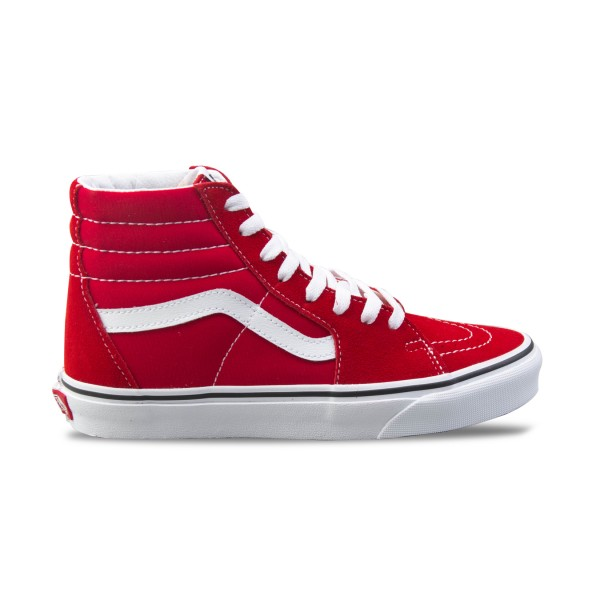 Vans Sk8 Hi Racing Red - True White