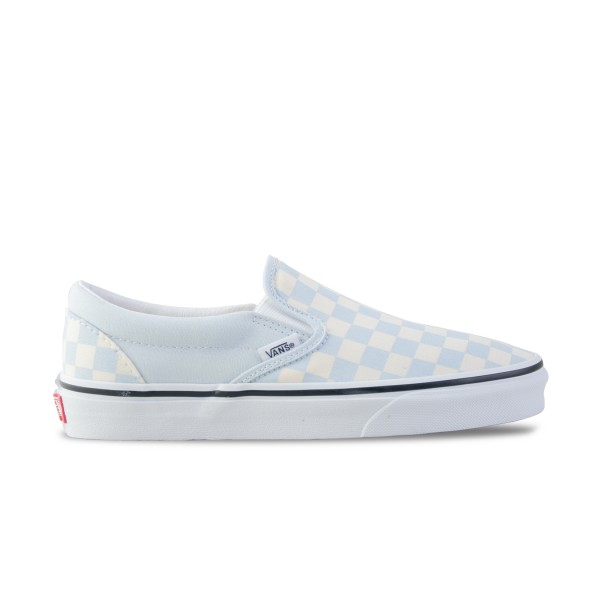 Vans Classic Slip-On Checkerboard  Beige - Light Blue