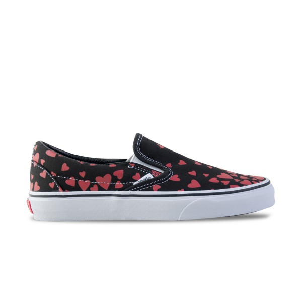 Vans Classic Slip-On Heart  Black - Red