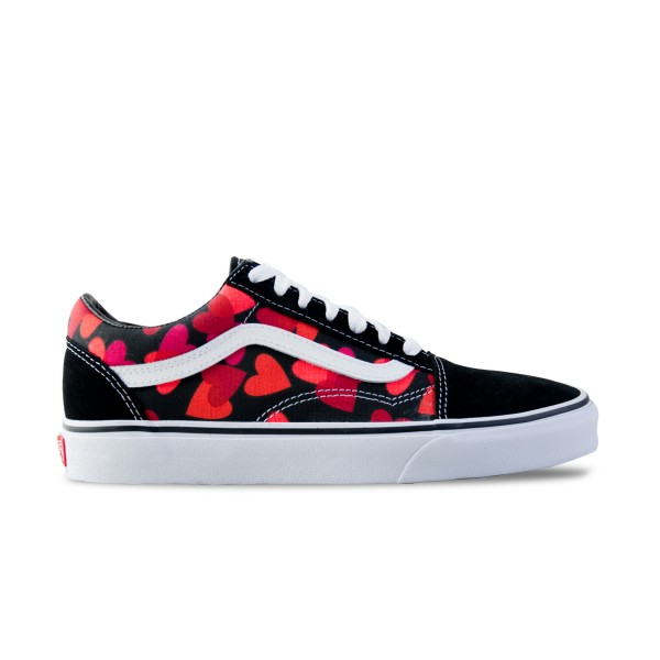 Vans Old Skool Valentines Heart Black - Red