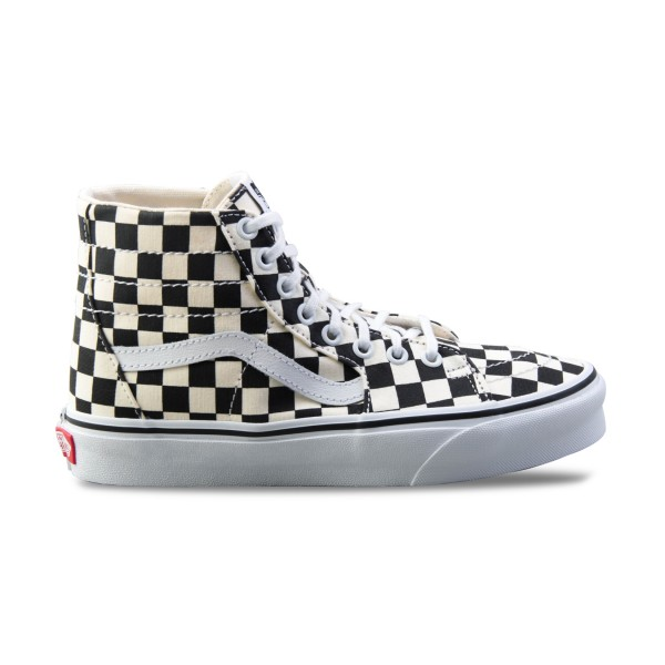 Vans Sk8 Hi Tapered Checkerboard Black - True White