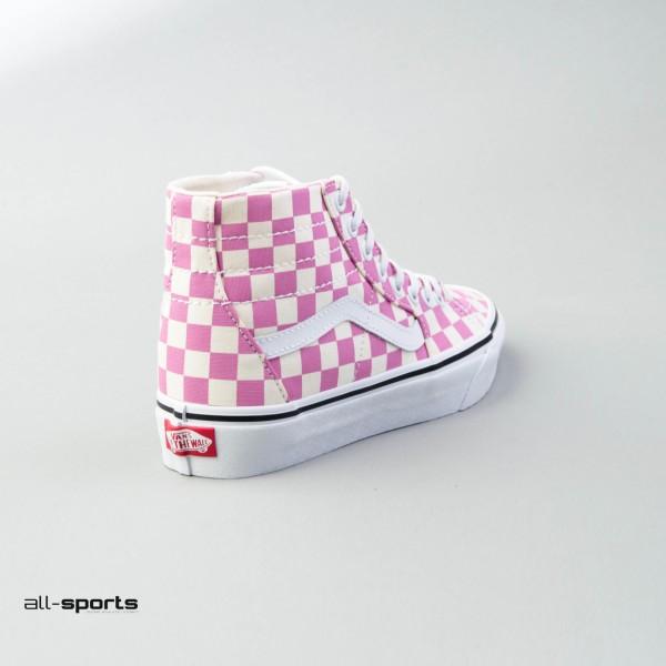 Vans Sk8 Hi Tapered Checkerboard Black - True White