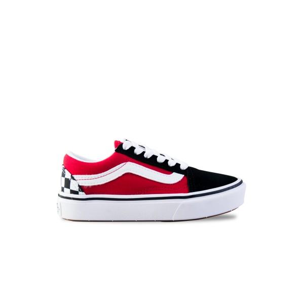 Vans Old Skool Checkerboard Comfycush Black - Red
