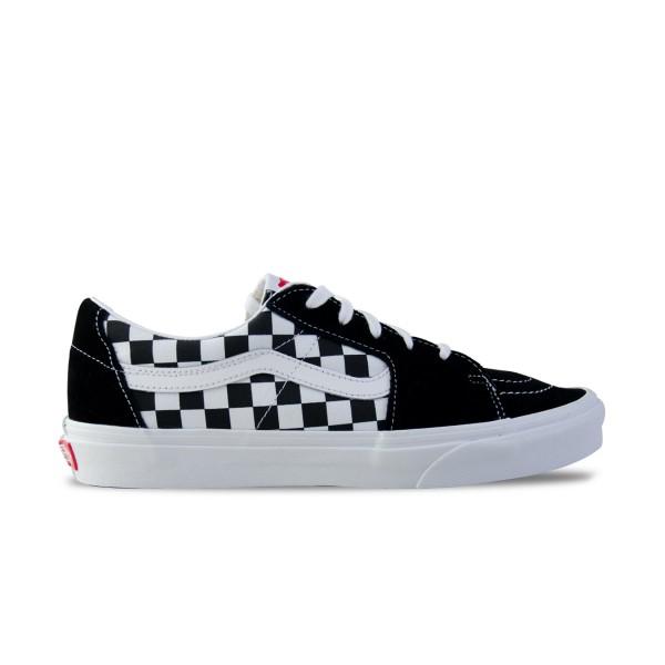Vans Sk8-Low Checkerboard Μαυρο - Λευκο