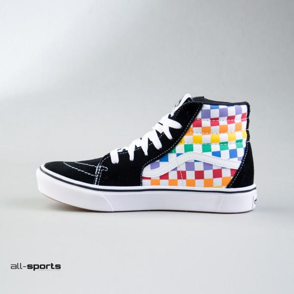 Vans Sk8 Hi Checkerboard Rainbow Multicolor