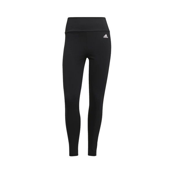 Adidas Design to Move High Rise 3 stripes 7/8 Γυναικεια Κολαν Μαυρο
