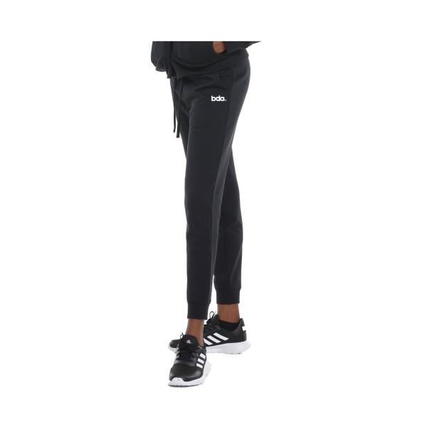 Body Action Fleece Γυναικειο Παντελονι Μαυρο