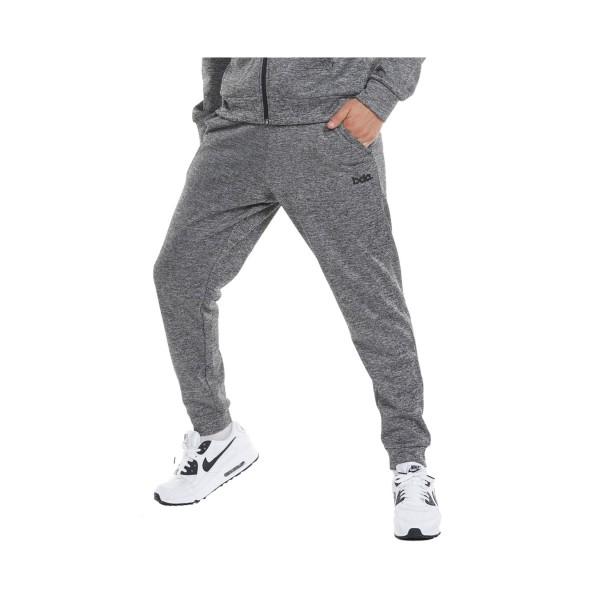 Body Action Athletic Fleece Ανδρικο Παντελονι Γκρι
