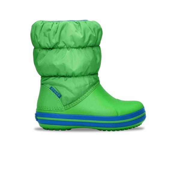 Crocs Winter Puff Boot Παιδικη Γαλοτσα Πρασινη
