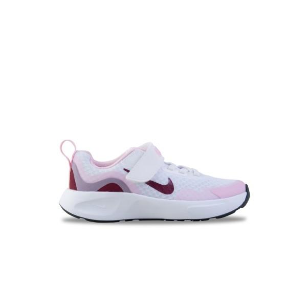 Nike Wearallday Παιδικο Παπουτσι Λευκο - Ροζ
