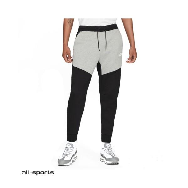 Nike Sportswear Tech Fleece Ανδρικο Παντελονι Γκρι - Μαυρο