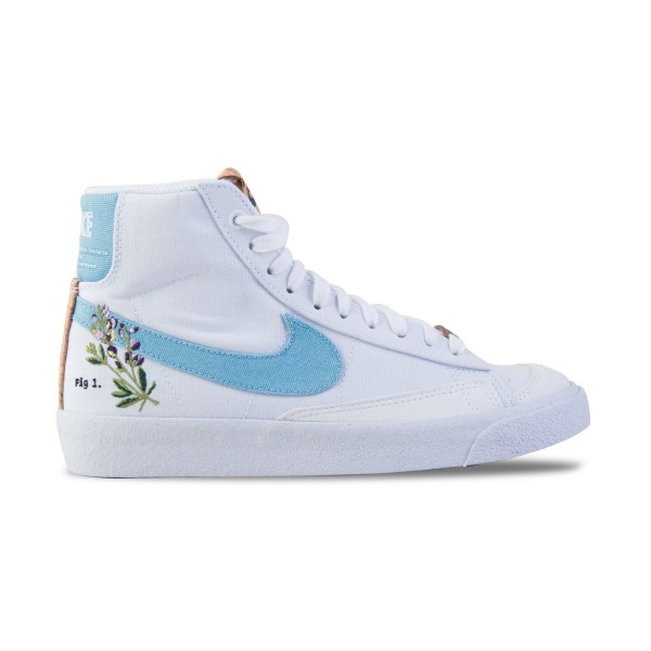 Nike Blazer Mid '77 SE Γυναικειο Παπουτσι Λευκο - Μπλε
