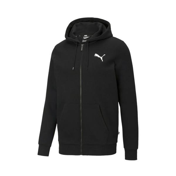 Puma Essential Logo Ανδρικη Ζακετα Μαυρη