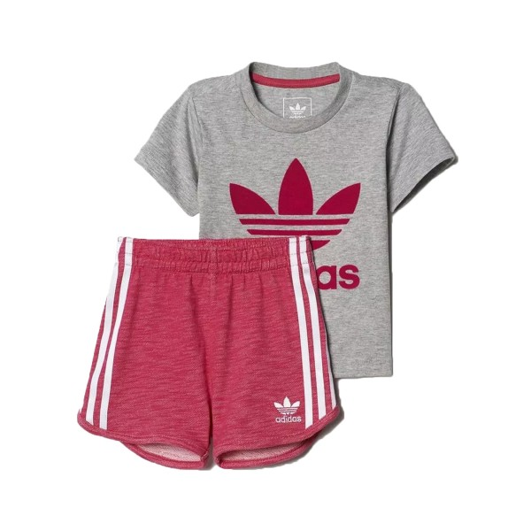 Adidas Originals Short Set I Grey - Pink