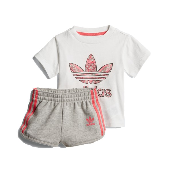 Adidas Originals Short Set I White - Grey