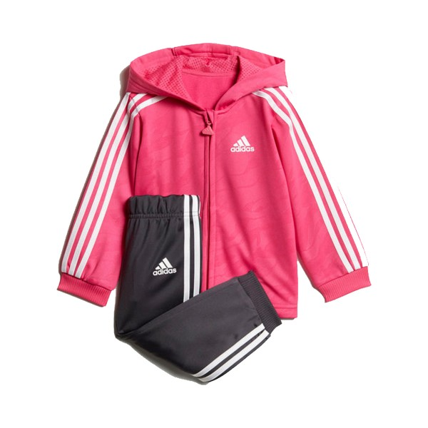 Adidas Shiny Full Zip Hooded Jogger Pink