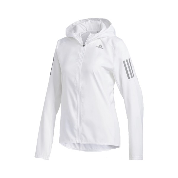Adidas Own The Run Hooded Wind Jacket White