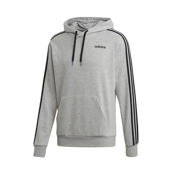 Adidas Essentials 3 Stripes Hoodie Grey