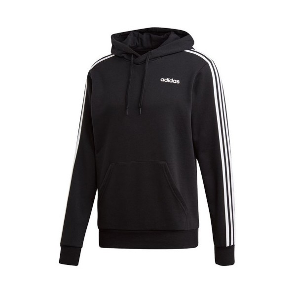 Adidas Essentials 3 Stripes Hoodie Black