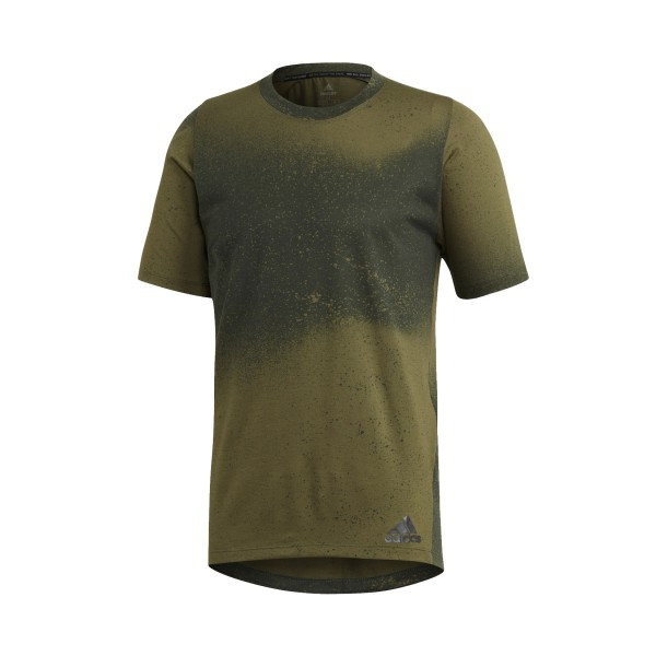 Adidas Freelift Badge Of Sports Spray Graphic Tee Khaki